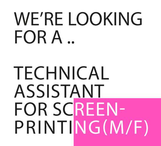 Vacature Screenprinting website